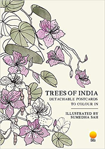Trees of India: Detachable Postcards to Colour in