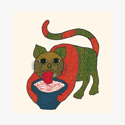 Cat with Milkpot Card