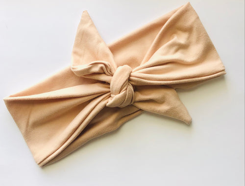 Pale Peach Tied Headband