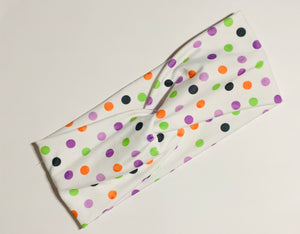 Halloween Polka Dot Twist Headband