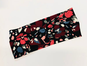 Black Geometric Twist Headband