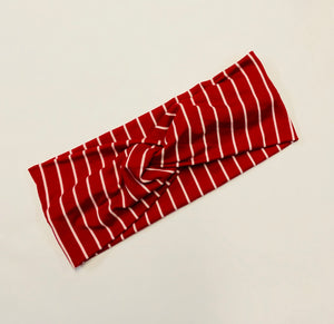 Red Stripe Twist Headband
