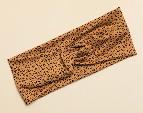 Mini Leopard Twist Headband