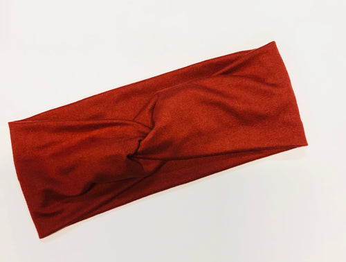 Burnt Red Twist Headband