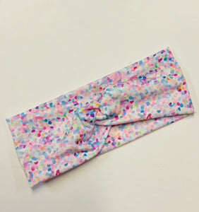 Confetti twist headband