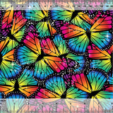 Bold Rainbow Butterflies - French Terry