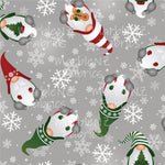 Gnomes Red & Green - Cotton Lycra
