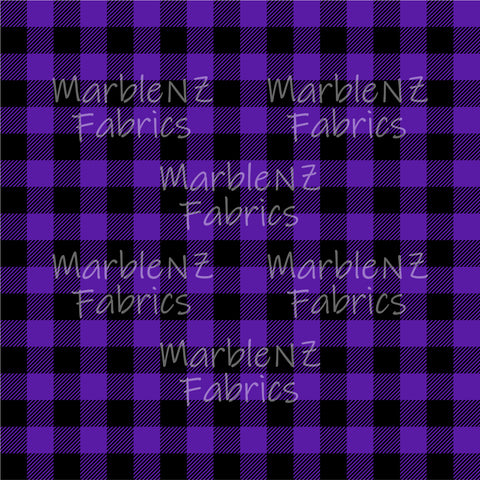 Plaid Checkers Purple - French Terry