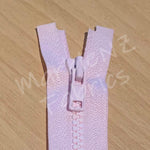 Size 3 - Pink (Moulded Plastic) Open ended Zipper