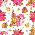 *FLAWED* - Christmas Unicorns - Woven