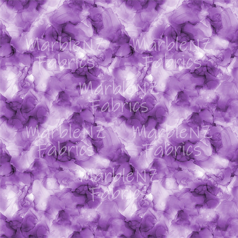 Watercolour Purple - Cotton Lycra