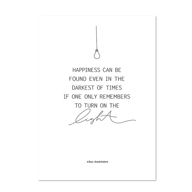 Happiness Can Be Found Even In The Darkest Wall Art