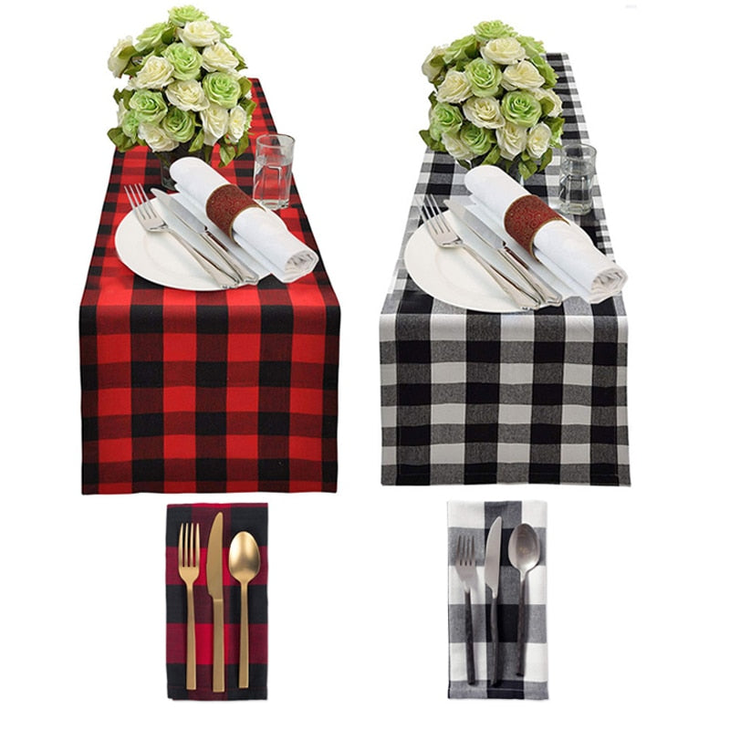 Buffalo Plaid Table Runner Home Decor