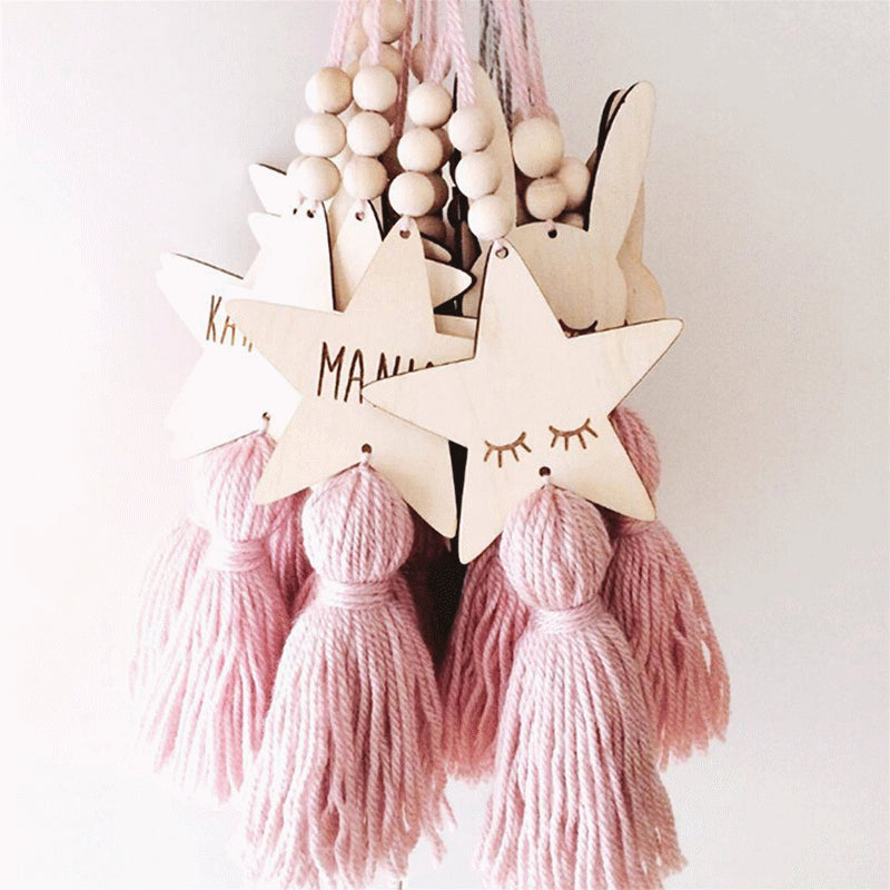 Star Shape Wooden Bead Tassel