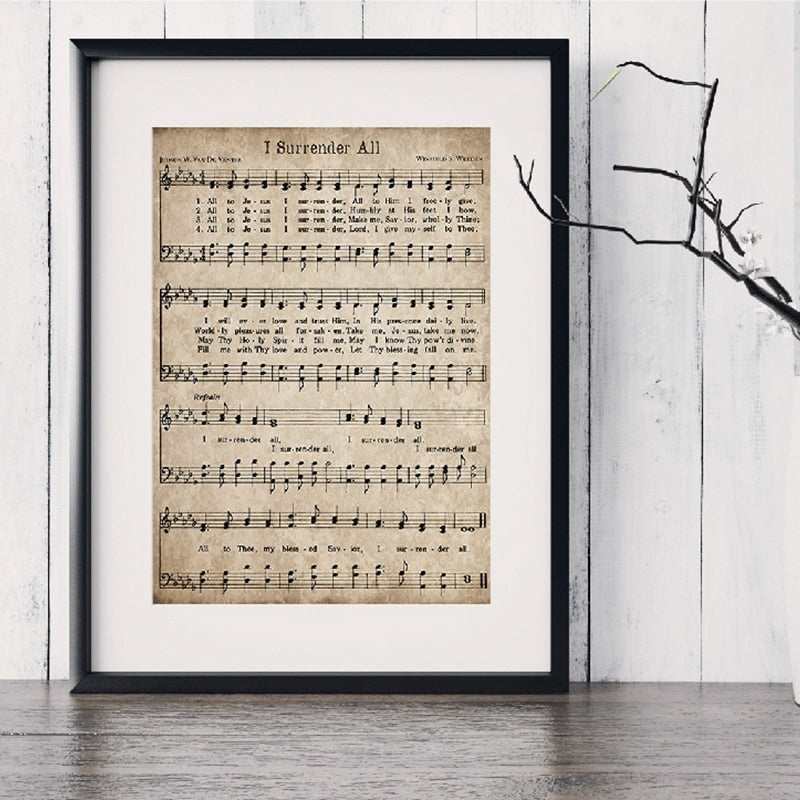 Sheet Music Art Wall