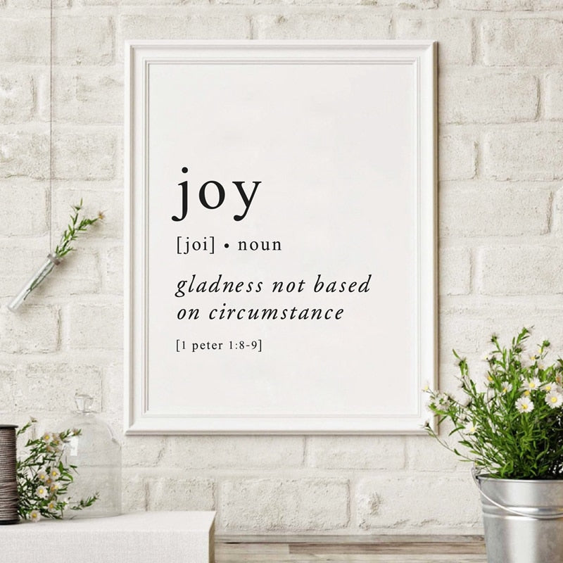 Joy Definition Wall Decor