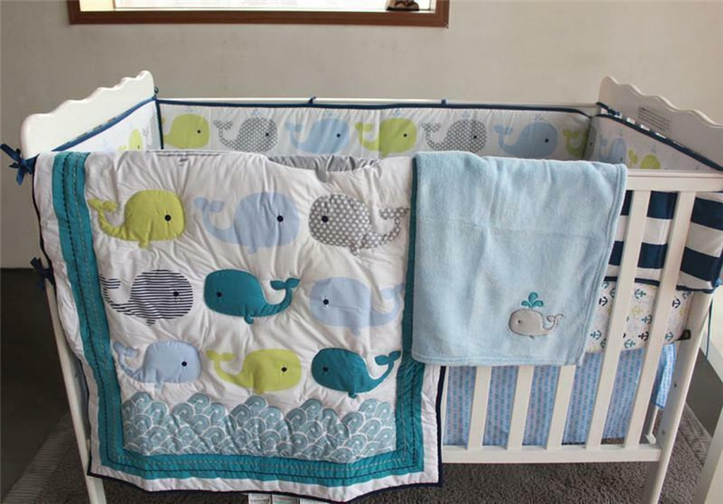 Whale Bedding Crib Set