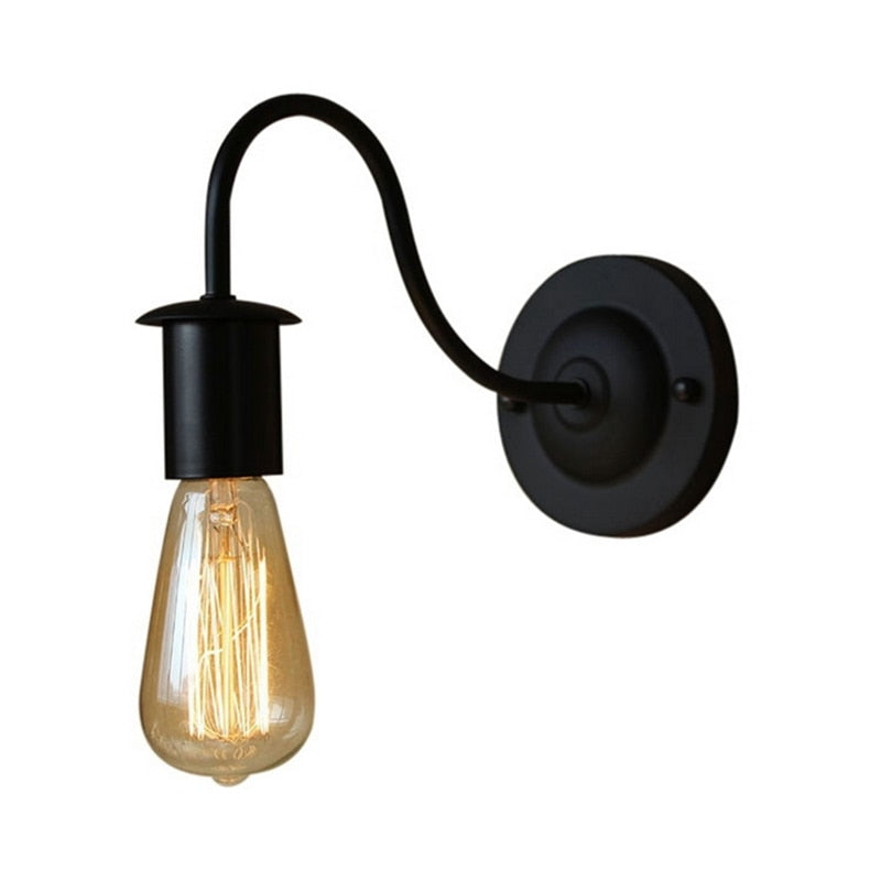 Black Iron Wall Light