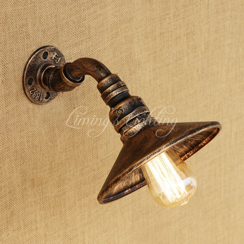 Iron Pipe Wall Lamp