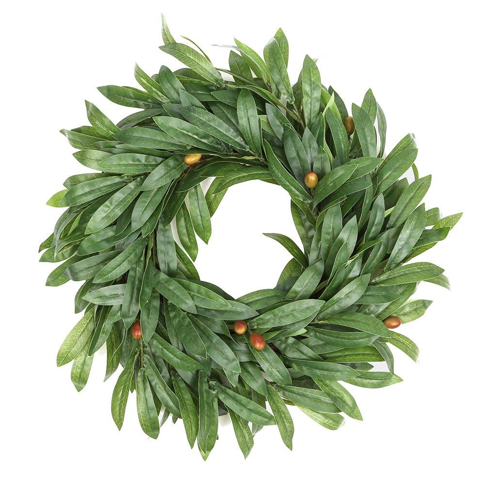 Door Wreath Wicker Olive Leaves