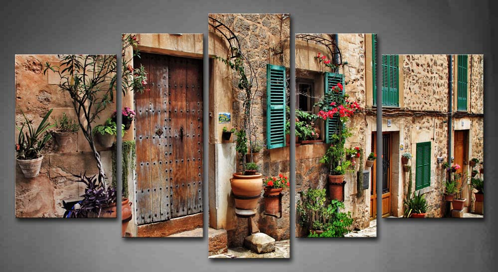 Streets Towns Flower Wall Art