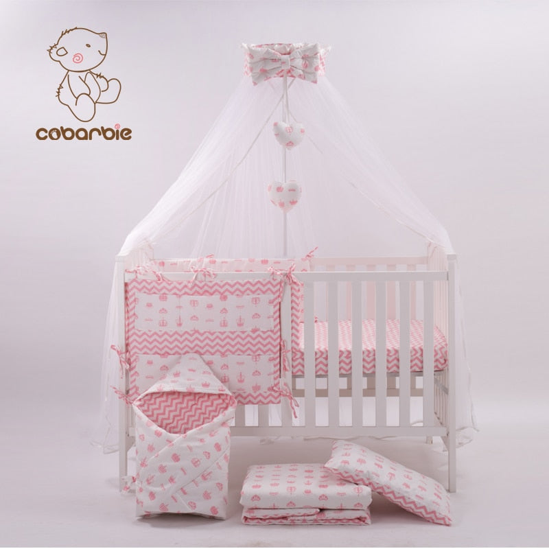 Pink Crib Bedding Set