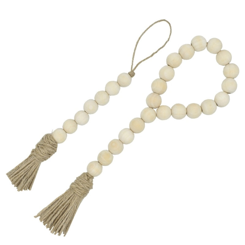 Farmhouse Beaded Tassel Decor