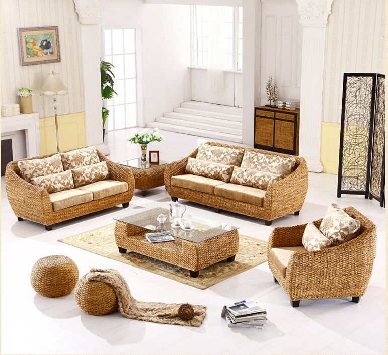 Rattan Chairs with 2 Piece Stool