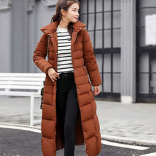 Load image into Gallery viewer, NEEDBO Down Coat women Long Down Jacket Women Winter with Hooded Down Coat Winter Oversize Doudoune Jacket Coat Lady Down Parka