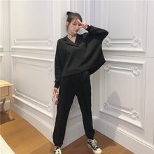 Load image into Gallery viewer, Autumn Women 2 Piece Set pants Suit Tracksuit Sweatshirts Casual  Long Sleeve Solid  Suit Tops+Pants Sporting Suit Female