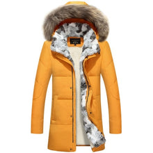 Load image into Gallery viewer, 5XL White Duck Down Jacket 2019 Women Winter Goose Feather Coat Long Raccoon Fur Parka Warm Rabbit Plus Size Outerwear WJM19