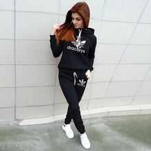 Load image into Gallery viewer, 2019 Autumn Winter 2 Piece Set Women Hoodie Pants Printed Tracksuit Pullover Sweatshirt Trousers With Pockets Tracksuit Suits