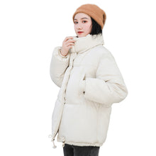 Load image into Gallery viewer, RICORIT Winter Jacket Women Solid Color Stand Collar Down Coat Loose Parkas Korean Female Oversized Jackets пуховик оверсайз