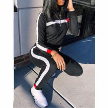 Load image into Gallery viewer, Hot Sale Autumn Women Set O Neck Long Sleeve Hoodies + Long Pant 2Pcs Ladies Sport Wear Femme Running Tracksuit Casual Suit