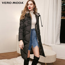 Load image into Gallery viewer, Vero Moda new hooded detachable sleeve drawstring long down jacket | 318412525
