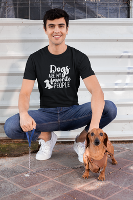 Dogs are my Favorite People - - Steer Custom T-Shirt Design - www.mycustomtshirtdesign.com