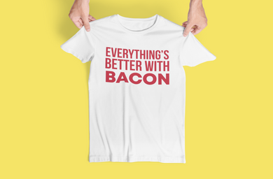 Everything's Better with Bacon - Steer Custom T-Shirt Design - www.mycustomtshirtdesign.com