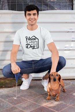 Home is where the Dog is- Steer Custom T-Shirt Design - www.mycustomtshirtdesign.com