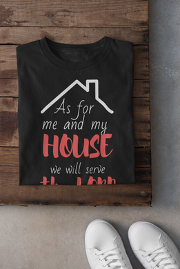 As For Me and My House(Lord) - Steer Custom T-Shirt Design - www.mycustomtshirtdesign.com