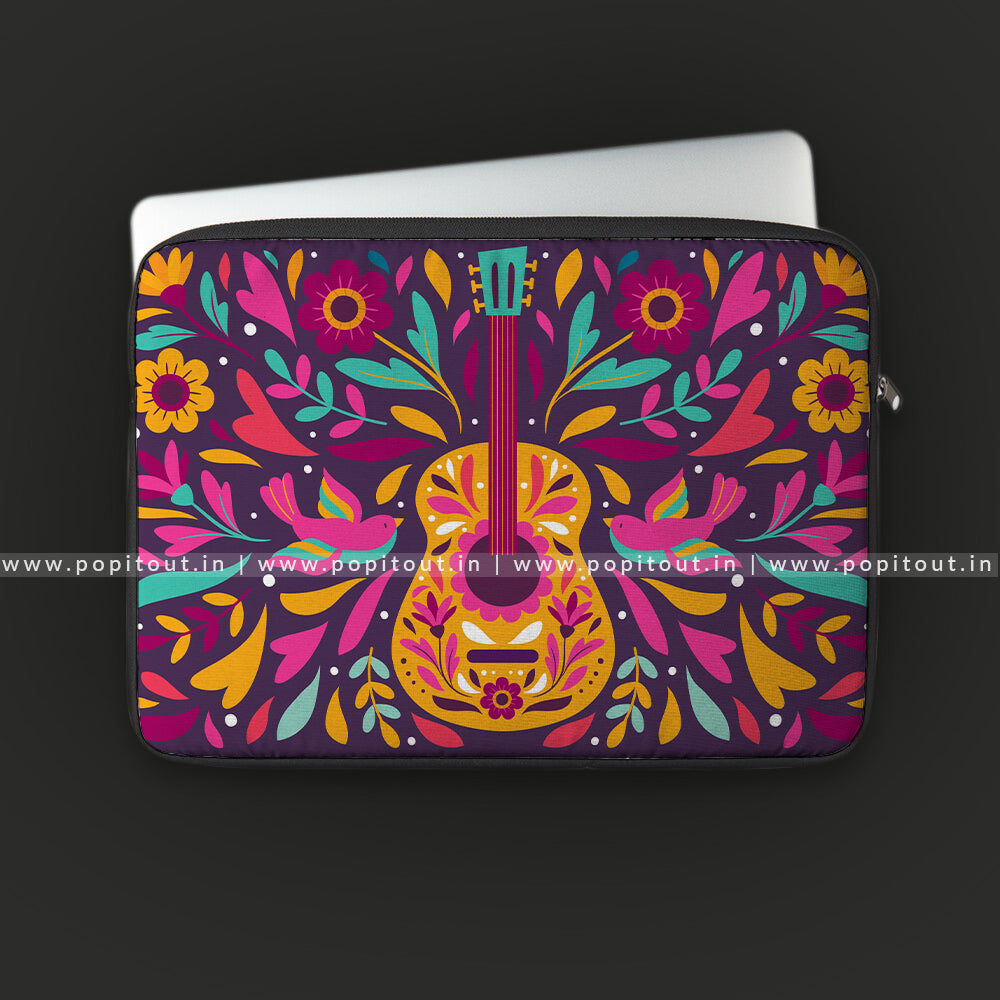 Colorful Guitar Laptop Sleeve