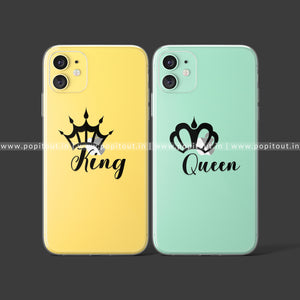 King And Queen Silicon Couple Case - PopItOut