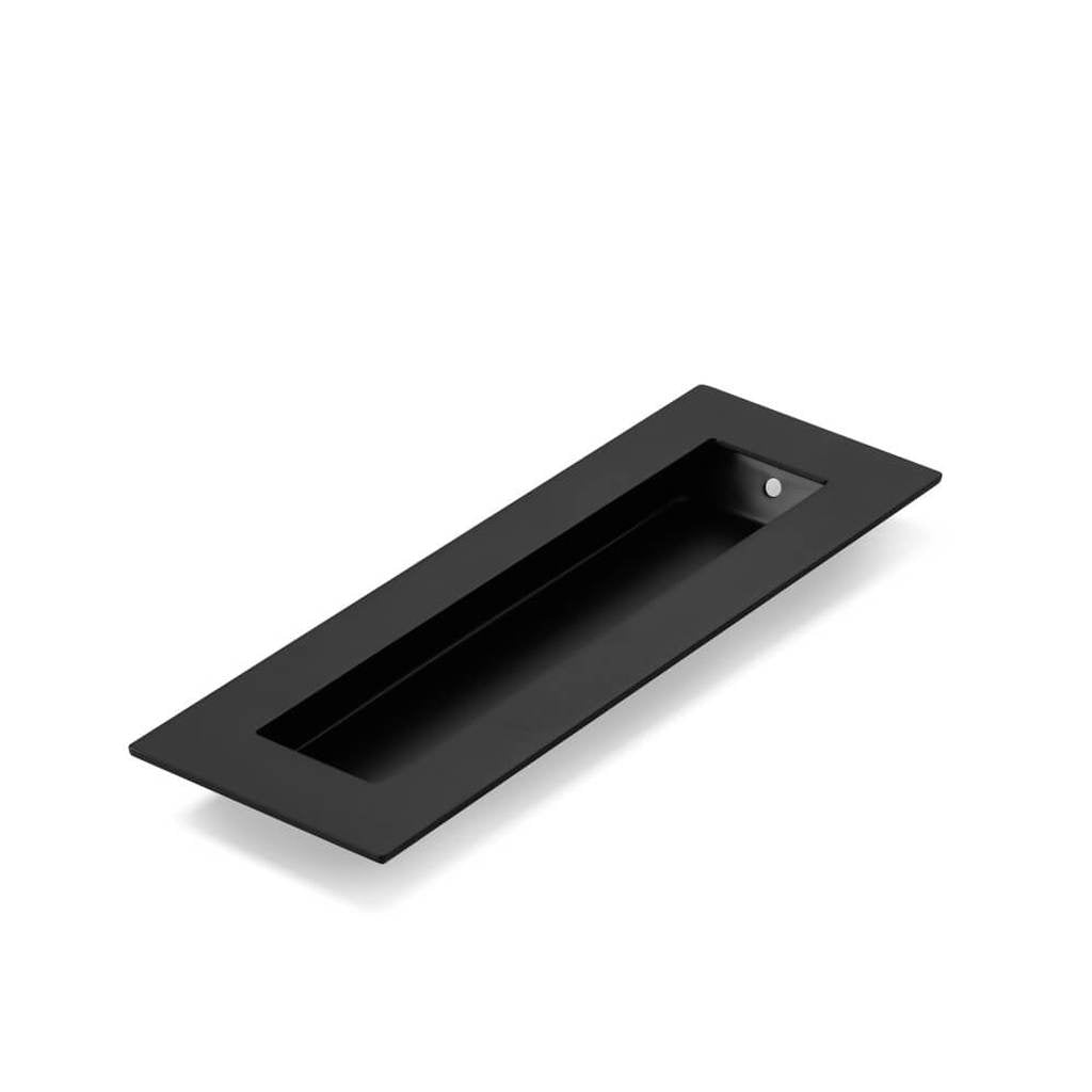 Matte Black FLUSH PULL Rectangle Handle 150mm
