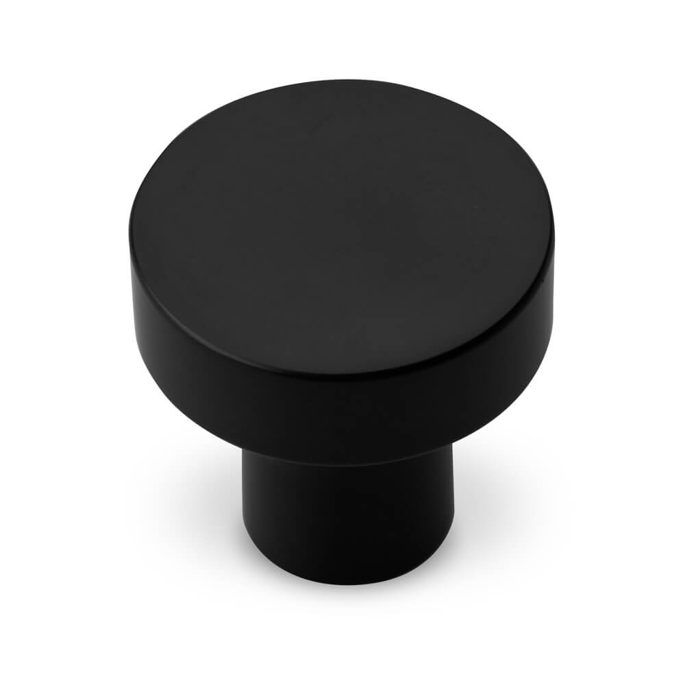 black cupboard knob