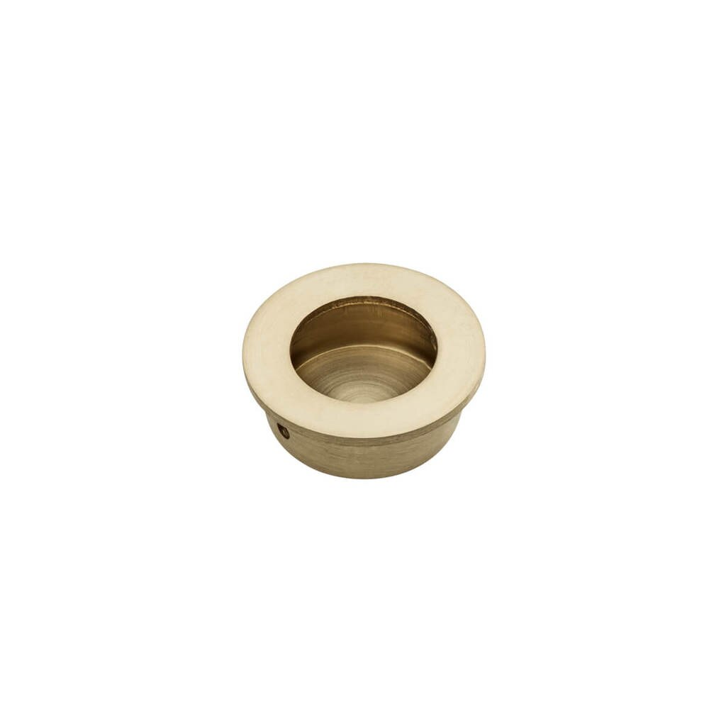 Brass FLUSH PULL Round Handle 30mm Open Design