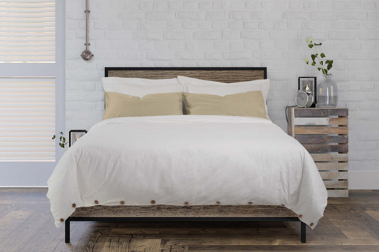 white organic cotton luxury duvet with mix and match dune pillows