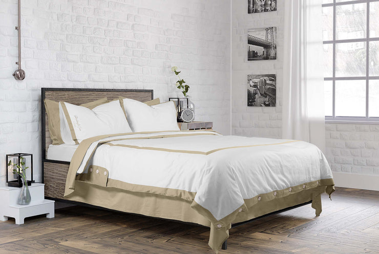 luxurious organic cotton hotel style duvet set by strawberry and cream