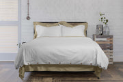 Classic+ 100% Organic Cotton Duvet Cover With Time Saving Features - White