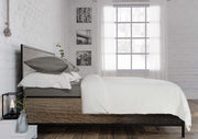 high quality white duvet set with stone grey fitted sheet and pillows