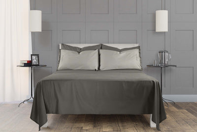 Classic 100% Organic Cotton Flat Sheet - Stone Grey