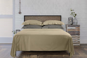 Beige Flat Sheet: 100% Organic Cotton